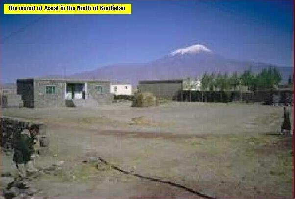 The Mount of Ararat, the highest mountain in Kurdistan