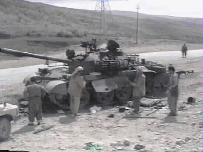 Destroyed Tank of the battle of Kore which stopped the advancing Iraqi forces