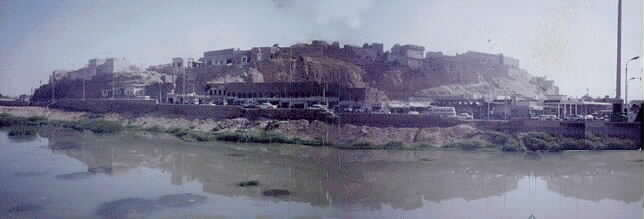 The Fortress of Kirkuk,built by Acadians 5.000 years ago.The view is before the destruction of 1998